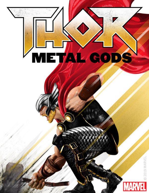 Portada del primer audiolibro de Marvel: 'Metal Gods', de Thor.