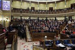 Vista del Congreso de los Diputados durante el debate de investidura de Pedro Sánchez.
