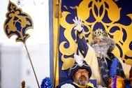 El cantante Alejandro Sanz encarna al Rey Mechor en la Cabalgata de Cádiz.