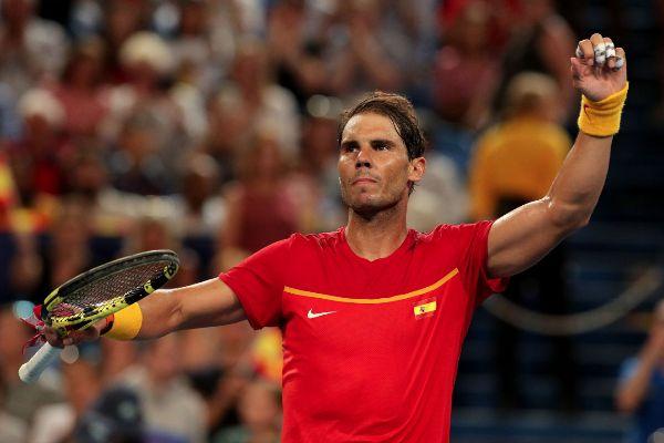 Perth (Australia).- Rafael <HIT>Nadal</HIT> of Spain celebrates...