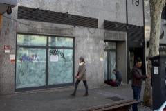 Sede de la antigua sucursal del Banco Popular donde Arturo González cometió el robo, en Madrid.