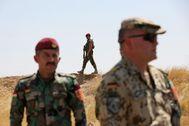 Soldados alemanes entrenan a peshmerga, en Erbil.