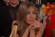La reacción viral de Jennifer Aniston cuando Brad Pitt recibió el Globo de Oro
