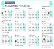 Calendario laboral 2020 nacional