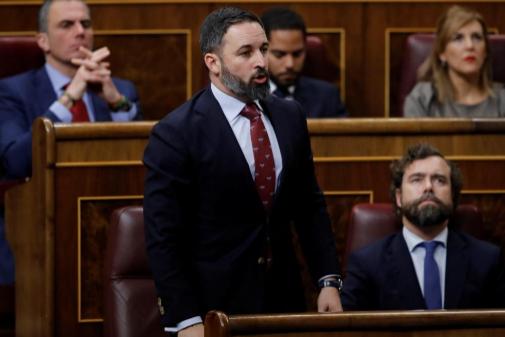 Santiago Abascal  vota 'no' a Pedro Sánchez.