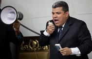 Luis Parra, el pasado domingo, cuando se nombró a sí mismo presidente de la Asamblea Nacional.