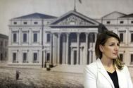 La candidata de Unidas Podemos para el Ministerio de Trabajo, Yolanda Díaz.