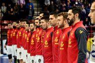La selección española, el viernes, antes del amistoso contra Portugal.