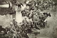 Tropas de caballería en Verdún