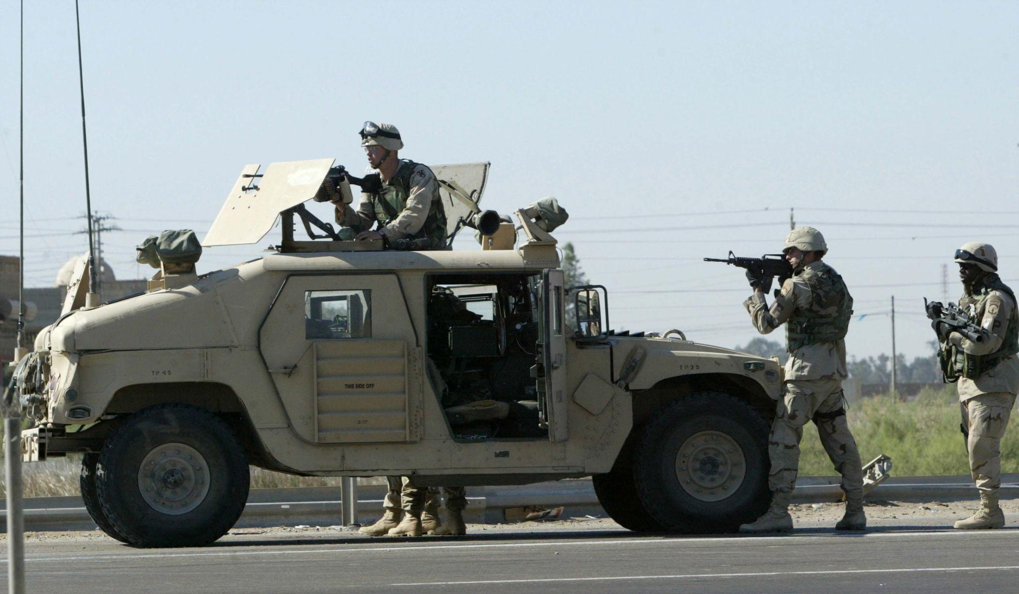 Fallujah (Iraq).- US soldiers take up position in Falluja, Iraq, 08...