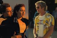Leonardo DiCaprio y Kate Winslet en Titanic y Brad Pitt en Érase una vez en... Hollywood.