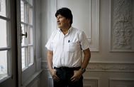 El ex presidente de Bolivia Evo Morales en Buenos Aires.