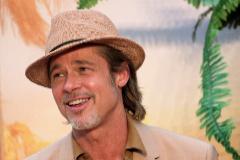 """Brad Pitt, durante una de las presentaciones de """"Érase una vez en Hollywood""""."""