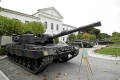 Carro de combate Leopard, como los que quiso vender Defex en Arabia Saudí.