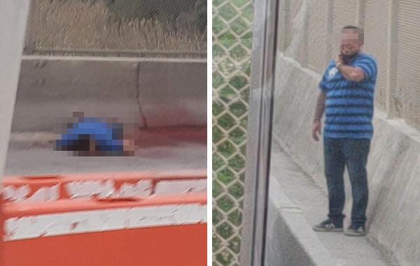 Captura de uno de los vídeos que muestran el suicidio.