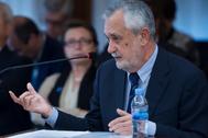 José Antonio Griñán, declarando en el juicio de los ERE el 11 de abril de 2018.