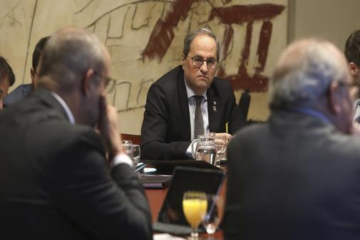 El presidente de la Generalitat, Quim Torra, este miércoles en la...