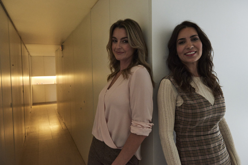 De izq. a dcha.: Mónica Martínez y Leticia Carrera.