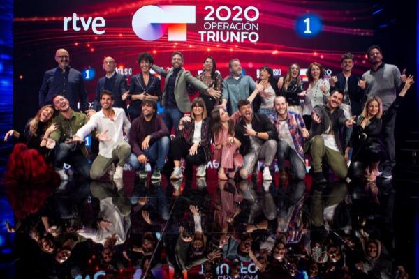 El jurado, los profesores de 'Operación Triunfo' y su presentador,...