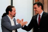 Pablo Iglesias y Pedro Sánchez conformarán el nuevo Gobierno