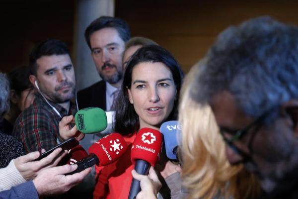 Rocío Monasterio (Vox), hace declaraciones tras el pleno de la...