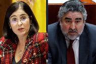 Los ministros de Política Territorial y de Cultura, Carolina Darias y Luis Rodríguez Uribes.
