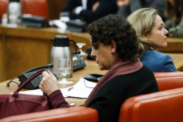 Magdalena Valerio, que deja de ser ministra de Trabajo, y Nadia...