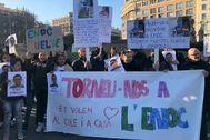 Concentración en Barcelona por la liberación de Enoc.