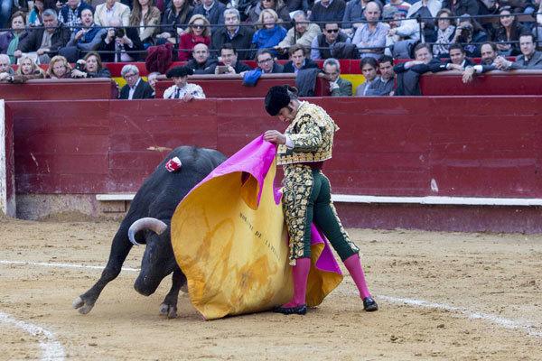 Morante de la Puebla, toreando con el capote en Valencia.