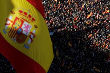 """Vox ensaya en las calles su oposición """"frontal"""" a un Gobierno """"en manos del separatismo"""""""