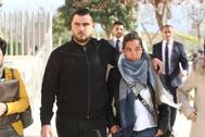 Los padres de Julen se dirigen a la Ciudad de la Justicia de Málaga en febrero de 2019.