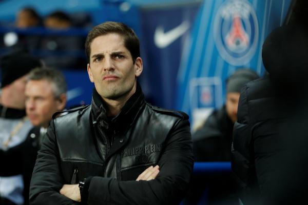 Robert Moreno, durante el partido ante el PSG.