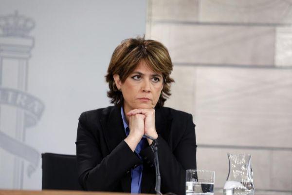 Dolores Delgado, en la rueda de prensa de un Consejo de Ministros...