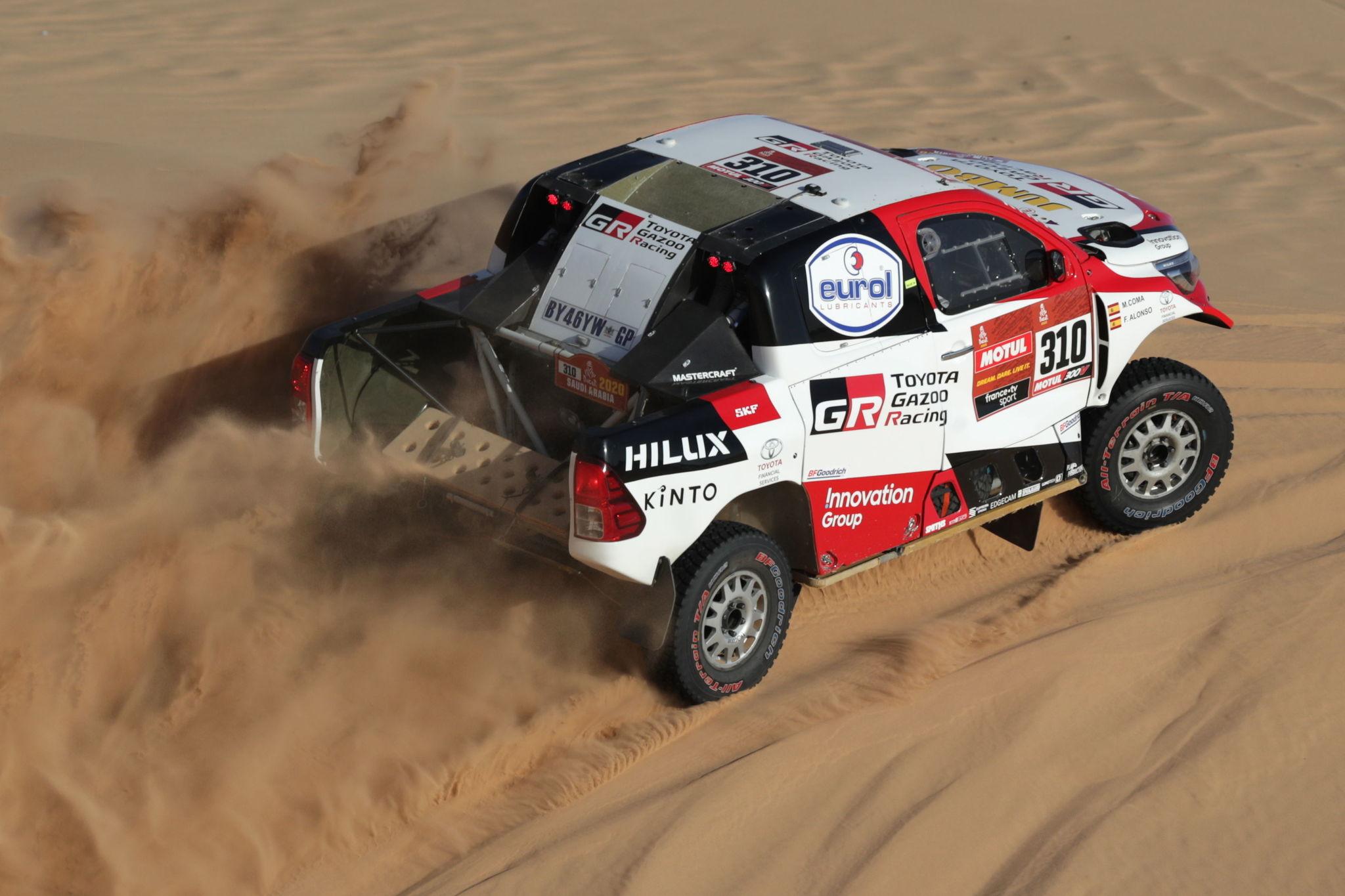 Wadi Al-dawasir (Saudi Arabia).- <HIT>Fernando</HIT> <HIT>Alonso</HIT> of Spain (Toyota Gaozo Racing) in action during stage eight of the Rally Dakar 2020 in Wadi Al-Dawasir, Saudi Arabia, 13 January 2020. (Arabia Saudita, España) EPA/