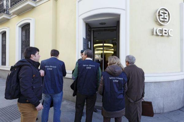 Operación de la Guardia civil contra el ICBC en Madrid, en 2016.