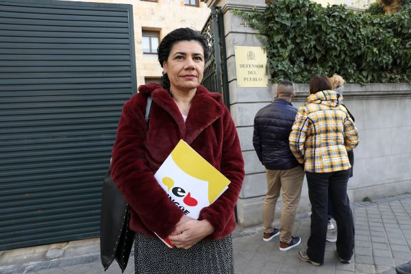 Ana Losada, presidenta de la Asamblea por una Escuela Bilingüe, en la...