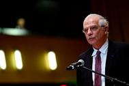 Josep Borrell, alto representante para Política Exterior de la UE, en Luxemburgo.