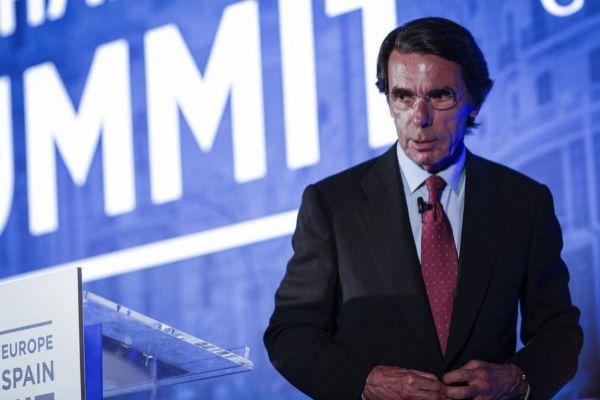José María Aznar, en una intervención pública el pasado junio.