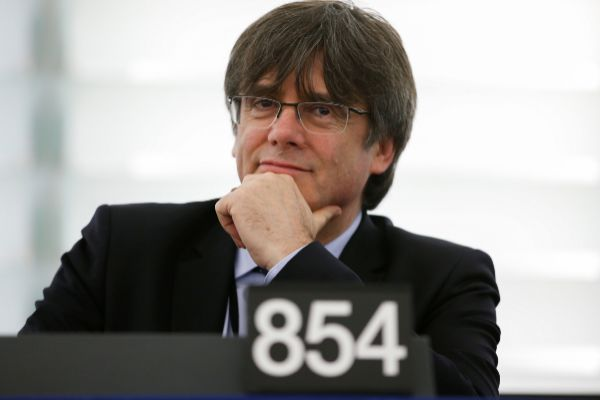 Former member of the Catalan government <HIT>Puigdemont</HIT> attend...