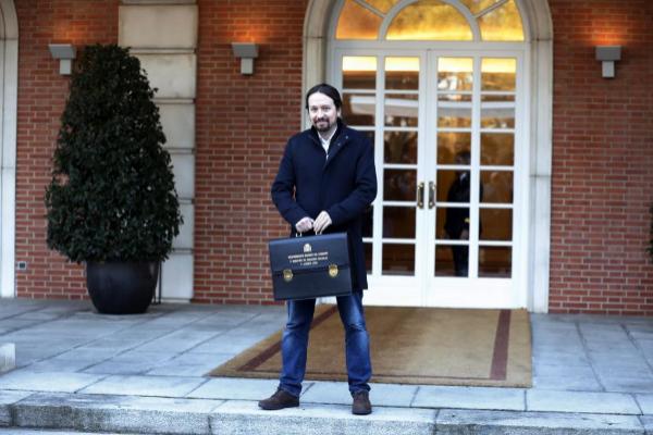 El vicepresidente social del Gobierno, Pablo Iglesias, este martes, en...