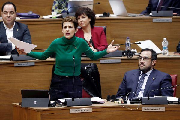 La presidenta del Gobierno de Navarra, Mar