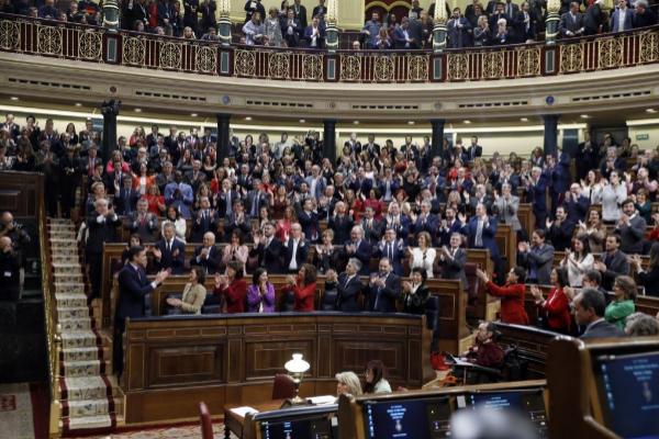 La 'bancada' del PSOE en el Congreso de los Diputados, el día que...
