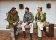 Talavante con sus nuevos apoderados: Joselito y Joaquín Ramos