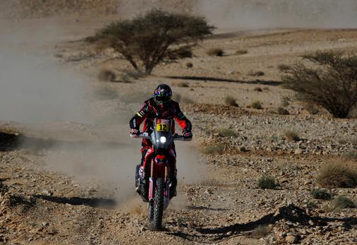 Joan Barreda, durante una etapa del Dakar.