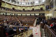 La bancada del PP en el Congreso, durante una intervención de Pedro Sánchez.