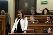 La diputada de JxCat, Laura Borràs, en el juramento como diputada, en el Congreso.