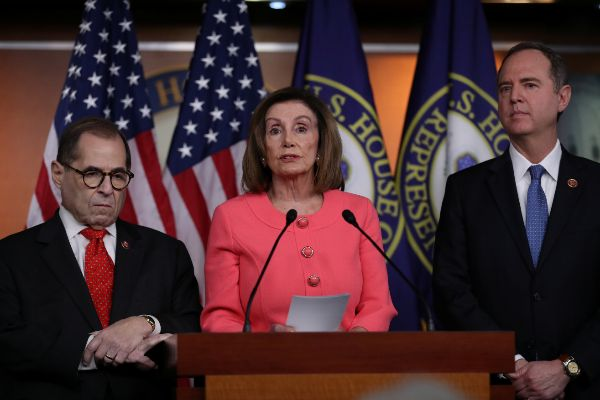U.S. House Speaker <HIT>Pelosi</HIT> announces House managers for...