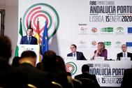 Moreno, durante su intervención en el foro celebrado este miércoles en Lisboa.