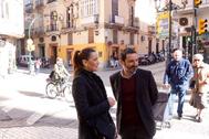 Elisa Pérez de Siles y José Ramón Carmona, este miércoles en Málaga.