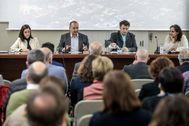 El vicepresidente segundo, Rubén Martínez Dalmau, durante la presentación del Pla Hàbitat 20-30